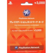 PlayStation Network Card / Ticket (3000 YEN / for Japanese network only) [retail packing]