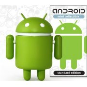Google Android Non Scale Pre-Painted Vinyl  Mini Collectible:  Android Standard Green Ver.