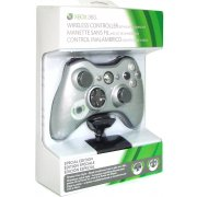 Xbox 360 Wireless Controller with Transforming D-Pad and Play and Charge Kit (Silver)