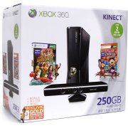 Xbox 360 Elite Slim Console (250GB) Kinect Bundle incl. Carnival Games: Monkey See, Monkey Do