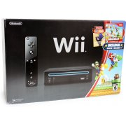 Wii Black Bundle (with New Super Mario Bros. Wii &amp; Mario Music CD)