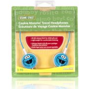 DreamGear Cookie Monster Travel Headphones - Blue