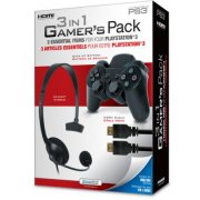 DreamGear 3 in 1 Gamer's Pack - Black