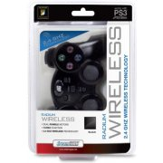 DreamGear Radium Wireless Controller with Dual Rumble Motors for PS3 (Black)