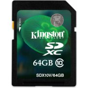 Kingston SD Card 64GB Class 10