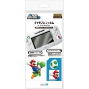 Character Film New Mario U for Wii U GamePad (White)