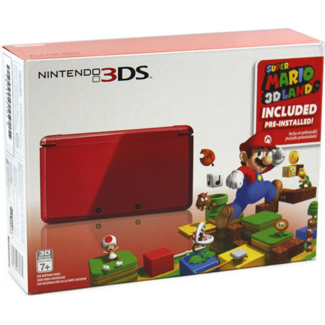 nintendo 3ds with super mario 3d land flame red edition. Black Bedroom Furniture Sets. Home Design Ideas