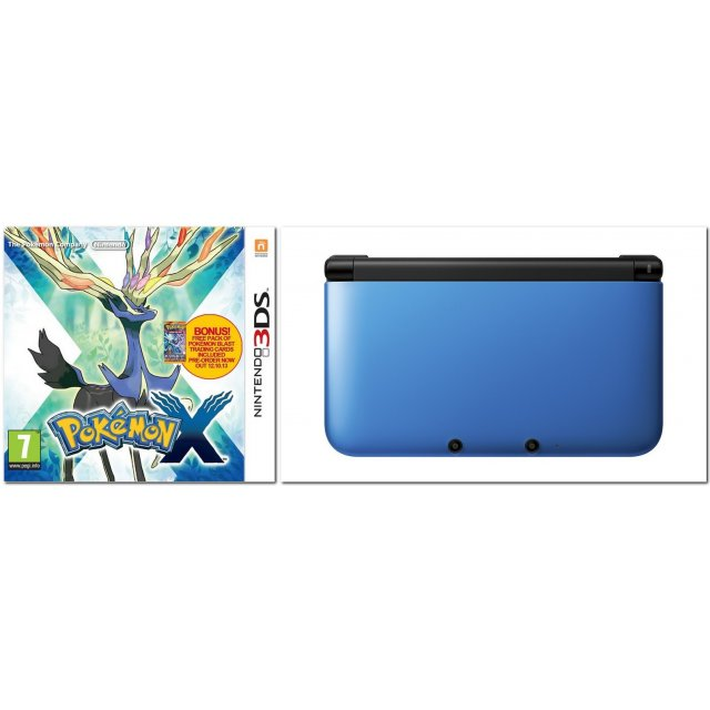 pokemon x with nintendo 3ds xl play starter. Black Bedroom Furniture Sets. Home Design Ideas